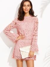 pink pom dress